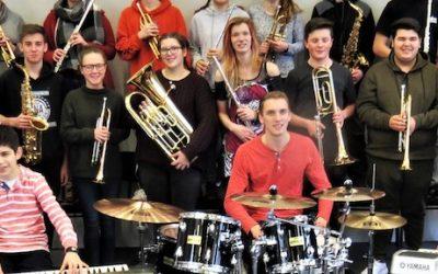 AFS BIG BAND zu Konzertvorbereitungen im Haus Neuland