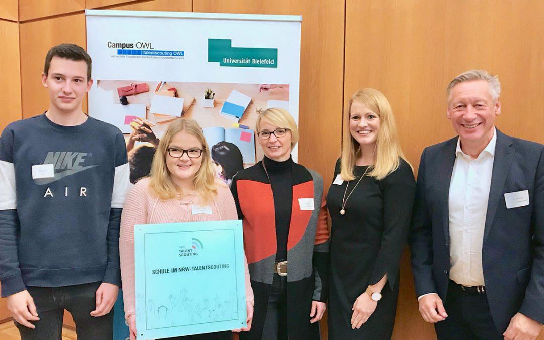 """AFS ist """"Schule im NRW-Talentscouting"""""""