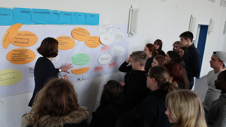 """Schülerdialog zum Thema """"Europa"""" in der Anne-Frank-Gesamtschule"""
