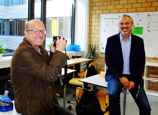 Die Presse zu Gast beim neuen Schulleiter Jan Rüter