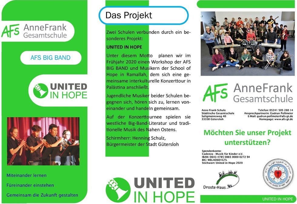 United In Hope – AFS BIG BAND
