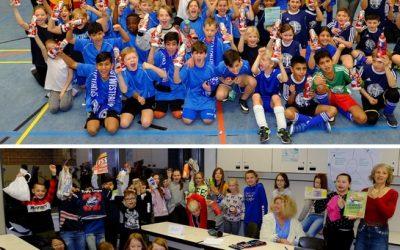 """Zwei tolle Veranstaltungen am Nikolaustag: das Grundschul-Fußball-Turnier und das NW-Projekt """"Müllvermeidung""""."""